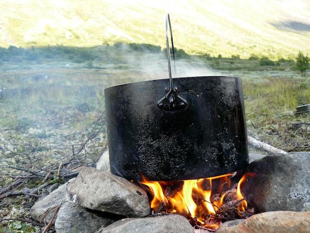 Kochen auf einer Fahrt